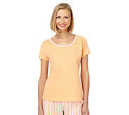 Jockey Separates Solid Color Short Sleeve KnitShirt - A333082