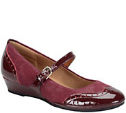 Comfortiva by Softspots Suede Mary Jane Wedges- Amherst - A355382
