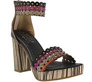 Spring Step LArtiste Leather Platform Sandals- Anna - A356682