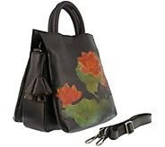 L`Artiste by Spring Step Leather Tote - Lilypad - A360082