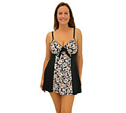 Fit 4 Ur Thighs Wallflower Blocked Tie Front Dress - Missy - A364782