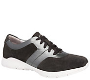 Dansko Lace-Up Leather Sneakers - Andi - A412382