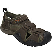 Crocs Mens Leather Fisherman Sandals - Swiftwater - A412482