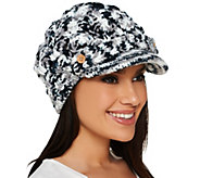 Accessory Network Open Weave Brimmed Beanie Hat - A217483