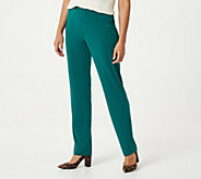 Susan Graver Essentials Liquid Knit Straight Leg Pants - Regular - A228083