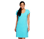 Isaac Mizrahi Live! Scoop Neck Short Sleeve Knit Dress - A233083