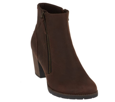 clarks bendables pause majesty leather ankle boots qvc
