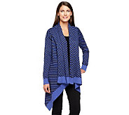 Liz Claiborne New York Chevron Stitch Cascading Cardigan - A237783