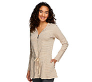 Lisa Rinna Collection A-Line Zip Down Hooded Tunic - A251683