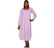 Carole Hochman Jersey Rosebud 50 Long Sleeve Gown - A256283