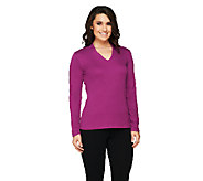 Isaac Mizrahi Live! Essentials Long Sleeve V-Neck Top - A258483