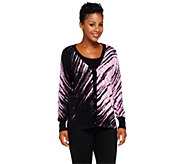 Bob Mackies Button Down Printed Cardigan with V-Neckline - A258783