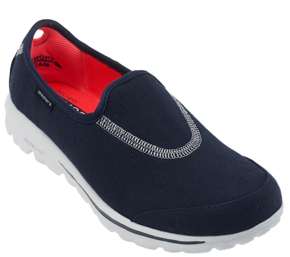 Skechers GOwalk Stretch Canvas Sneakers - Extend