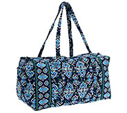 As Is Vera Bradley Signature Print Double Handle Large Duffel - A264983