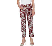 Liz Claiborne New York Jackie Straight Printed Ankle Jeans - A266183