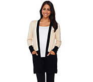 Linea by Louis DellOlio Whisper Knit Color-Block Cardigan - A267883