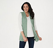 Kilronan Merino Wool Open Front Vest with Pockets - A275983