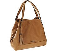 As Is Tignanello Leather Triple Compartment A-Line Shopper - A277783