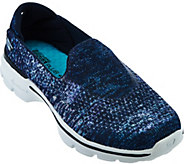 Skechers GO Walk 3 Sublimation Print Slip-ons - Glisten - A279383