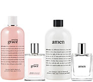 philosophy amazing grace & amen 4-pc fragrance layering kit - A279583