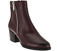 Marc Fisher Leather Zipper Ankle Boots - Blur - A282783