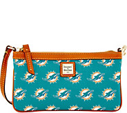 Dooney & Bourke NFL Dolphins Large Slim Wristlet - A285783