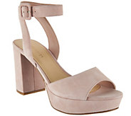 Marc Fisher Suede Platform Sandals with Ankle Strap - Meliza - A287483