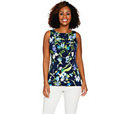 Susan Graver Printed Liquid Knit Sleeveless Top - A288483