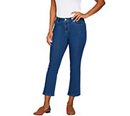 LOGO by Lori Goldstein 5-Pocket Crop Bootcut Jeans - A288883