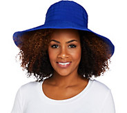 San Diego Hat Co. Ribbon 5 Brim Sun Hat - A290683