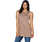 LOGO Layers by Lori Goldstein Printed Knit Tank w/ Straight Hem - A294483