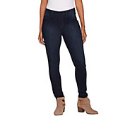 Laurie Felt Silky Denim Pull-On Skinny Ankle Jeans - A295683