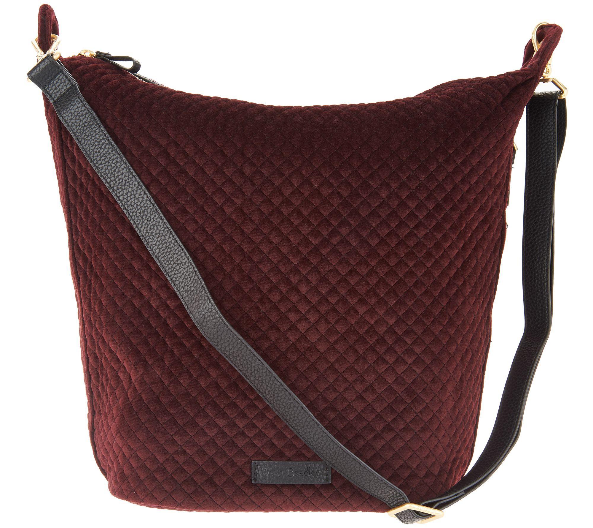 Vera Bradley Carson Velvet Zip Top Hobo Handbag A300783
