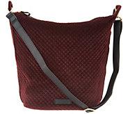 Vera Bradley Carson Velvet Zip Top Hobo Handbag - A300783