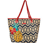 As Is Vera Bradley Straw Beach Shopper - A301183