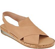 Sesto Meucci Leather Cross Strap Wedge Sandals - Sylke - A303783