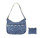 As Is LeSportsac Printed Nylon Classic Hobo with Pouch - A304783