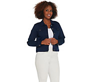 Susan Graver Stretch Twill Jean Jacket - A305883