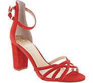 Vince Camuto Suede Multi Strap Heeled Sandals - Catelia - A306383