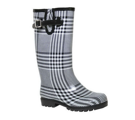 Creative  Women39s Navy Plaid Short Rain Boot  Shoes  Women39s Shoes  Wome