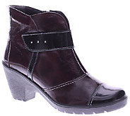 Spring Step Leather Ankle Boots with Lug Outsole - Manifest - A338083