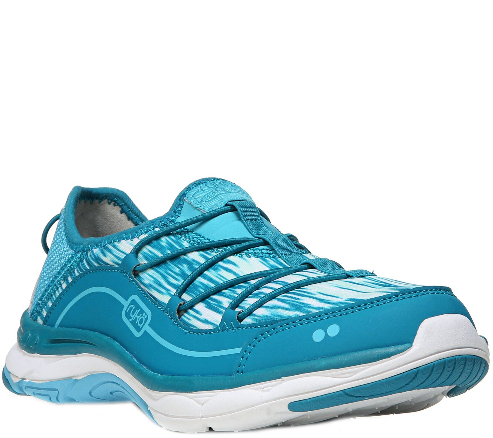 ryka lace up walking sneakers feather pace qvc