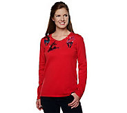 Quacker Factory Ombre Sequin Holiday Sweater - A217884