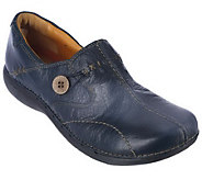 Clarks Unstructured Leather Slip-on Shoes - Un.Loop - A223884