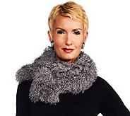 Joan Rivers Faux Mongolian Fur Scarf - A225984