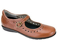 Aetrex Chloe Mary Janes with Cutout Design & Buckle Closure - A227984