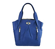 As Is B. Makowsky Glove Leather Tote with Turnlock Closure - A232384