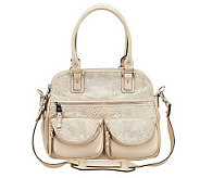 Aimee Kestenberg Leather Lucy Satchel w/Front Pockets - A232584