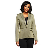 Kelly by Clinton Kelly Button Front Knit Blazer - A238384