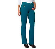 As Is Quacker Factory Regular DreamJeannes Boot Cut Pants - A252284